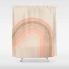 Soft Light Corner Bow Shower Curtain
