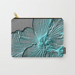 Bloom Grey Aqua Carry-All Pouch