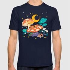 Goodnight Plume MEDIUM Mens Fitted Tee Navy