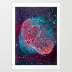 Crescent Nebula Art Print