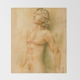 Adonis - Male Nude Throw Blanket