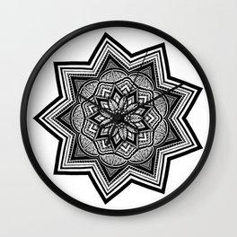 Nature and Pointillism Mandala Wall Clock