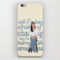 glee iPhone & iPod Skins featuring Brittana - Glee - Santana Lopez [Solo] Landslide typography minimalist design by Hrern1313