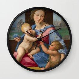 """Raffaello Sanzio da Urbino """"Aldobrandini Madonna"""", circa 1510 Wall Clock"""