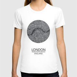 London map print drawing england T-shirt