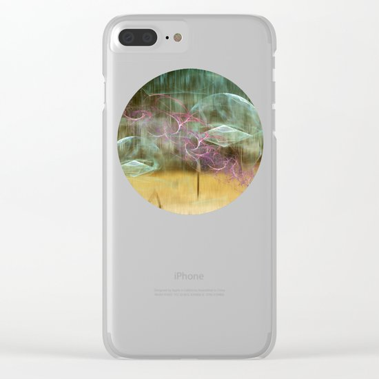 Laundry Line in Abstract Clear iPhone Case