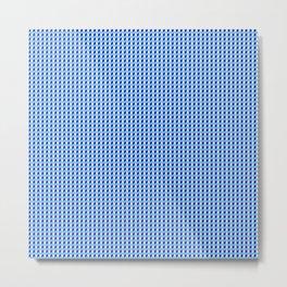Blue Q Cube Brock Pattern Metal Print