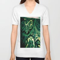 paisley V-neck T-shirts featuring Paisley by Kim Ramage