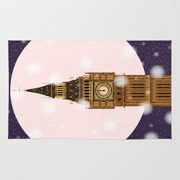 London Christmas Eve Rug
