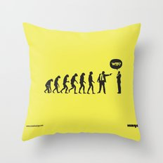 WTF? Evolution! Throw Pillow