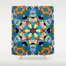 fractal V Shower Curtain