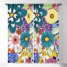 Bloomin' Flowers Blackout Curtain