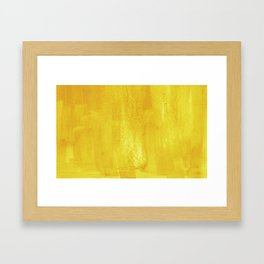 Brushed Yellow Framed Art Print