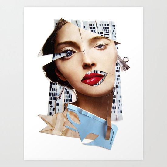 Make me beautiful   Collage Art Print