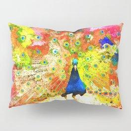 Peacock Grunge Pillow Sham