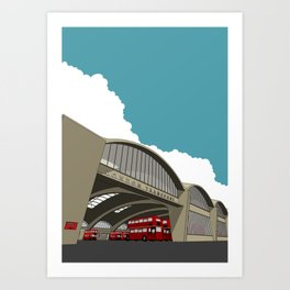 Stockwell Bus Garage 1952 Art Print