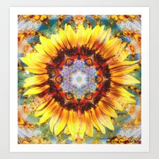 Sunshroom Flower Art Print