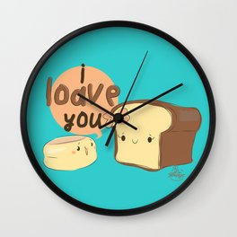 Said the English Muffin the the Loaf of Bread... Wall Clock