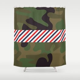 Barber Camo Pattern Shower Curtain