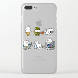 Soft Kitty Clear iPhone Case