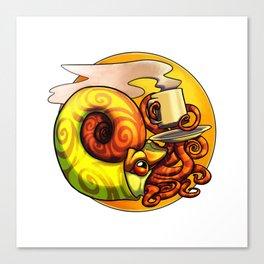 Ammonite Tea Canvas Print