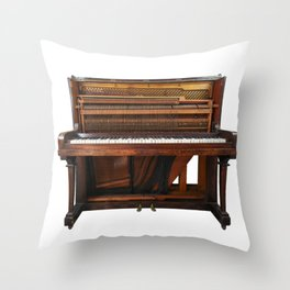 Vintage Upright Piano Number 1 Throw Pillow