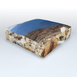 Many layers of a mountain view Outdoor Floor Cushion