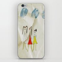 sisters iPhone & iPod Skins featuring Sisters?  by Ethna Gillespie