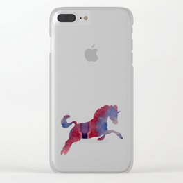 Horse Clear iPhone Case