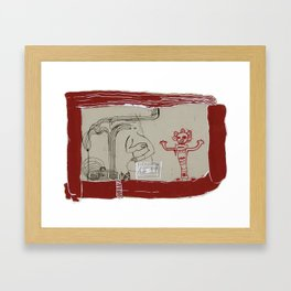 Open Channel Framed Art Print