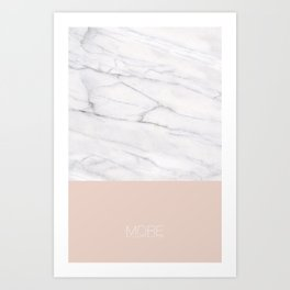 Marble X Pale Dogwood Art Print