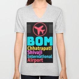 BOM Chhatrapati Shivaji International Airport Unisex V-Neck