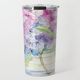 Hydrangea, Still Life Travel Mug