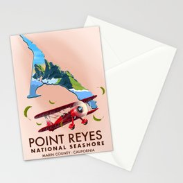 point reyes national seashore travel poster. Stationery Cards