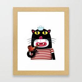 Sailor Kitten Framed Art Print