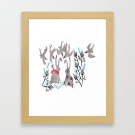 Whatcha Reading? Framed Art Print