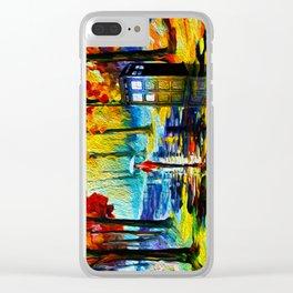 Beautiful Tardis Clear iPhone Case