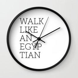 Walk Like an Egyptian Wall Clock