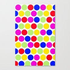 Polka dot, Colors set 1 Canvas Print