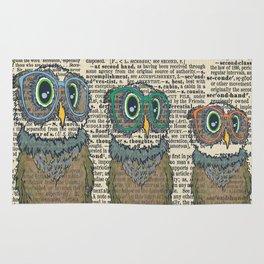 Owl wearing glasses Rug