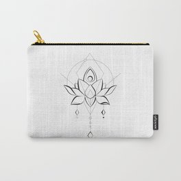 Modern Lotus for Body and Soul Carry-All Pouch