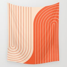 Two Tone Line Curvature XI  Wall Tapestry