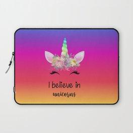 I Believe In Unicorns Laptop Sleeve