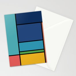 The Colors of / Mondrian Series - Ponyo- Miyazaki Stationery Cards