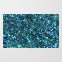 Abalone Shell | Paua Shell | Cyan Blue Tint Rug