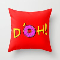 simpsons Throw Pillows featuring The Simpsons: D´oh! by dutyfreak