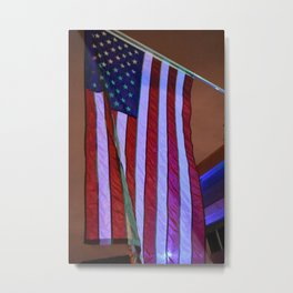American Patriotic & Blue light Metal Print