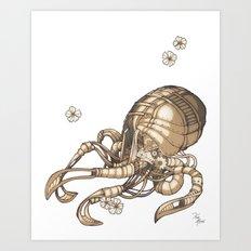 Mechanical Octopus Art Print