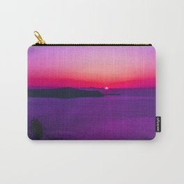 purple sunset in Fira Santorini Carry-All Pouch