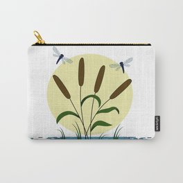 Cattails and Dragonflies Carry-All Pouch
